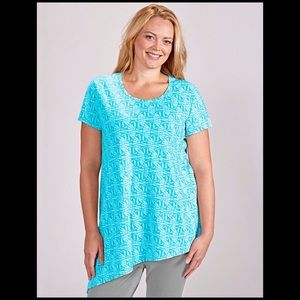 Fresh Produce Aqua Fans Asymmetrical Top